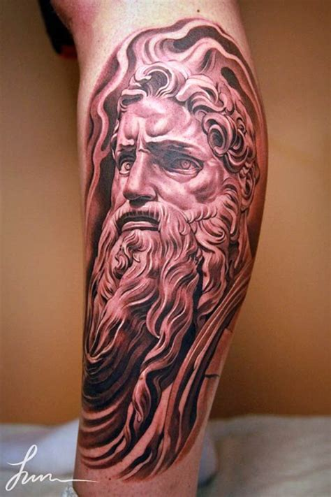 left arm ancient greek man head tattoo tattooshunt com