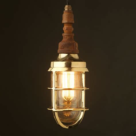 Caged Pendant Light Plumbing Pipe Caged Shade Pendant