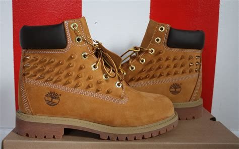 spiked studded timberland boots big by ericaleecreatives