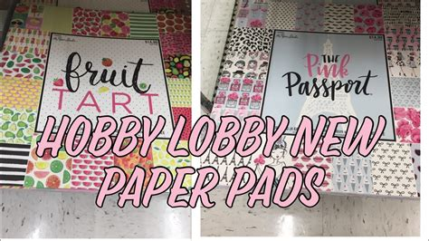 Hobby Lobby Craft Paper - hobby lobby new paper pads my crafts and diy projects