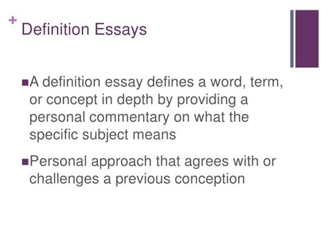 Sles Of Definition Essays definition of personal essay 28 images definition of