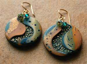 Bead Jewelry Making Ideas - new polymer clay earrings 171 art and tea