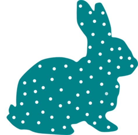 Yellow Rabbit Polkadot bunny polka dot silhouette clip at clker vector
