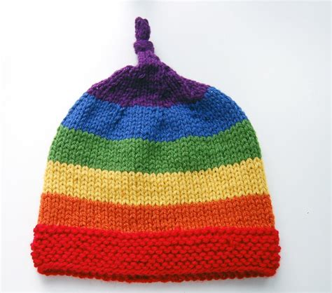 knitted beanies for children rainbow children s beanie allfreeknitting