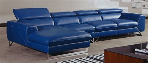 blue leather sectional sofa etoile italian full top grain blue leather modern