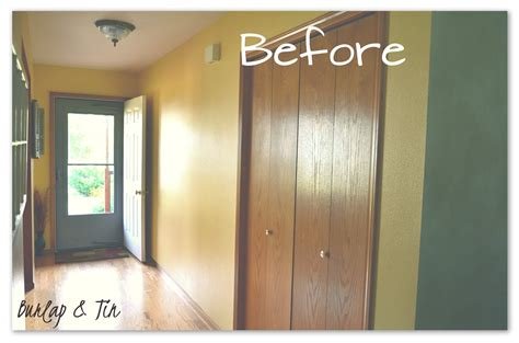 hallway closet doors burlap tin bi fold door transformation