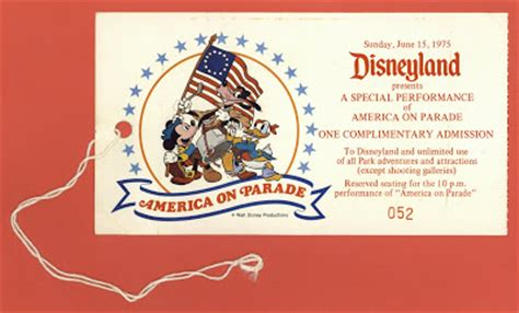 vintage disneyland tickets america on parade ticket and