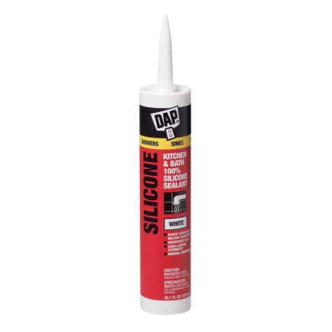 silicone caulking bathtub dap kwik seal 174 tub tile adhesive caulk white 5 5 fl