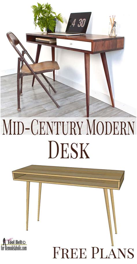 mid century modern office desk download mid century modern desk plans plans free