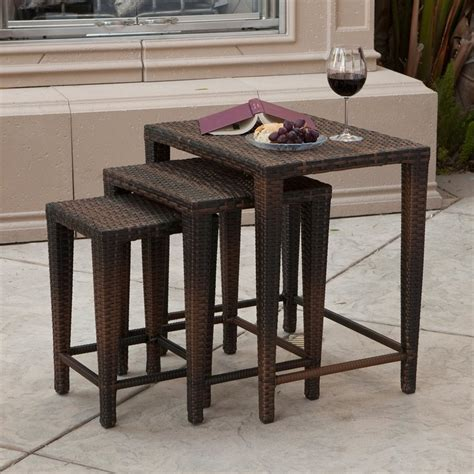 brown accent table shop best selling home decor 3 piece multi brown accent