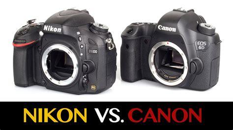 nikon vs canon dslr cameras