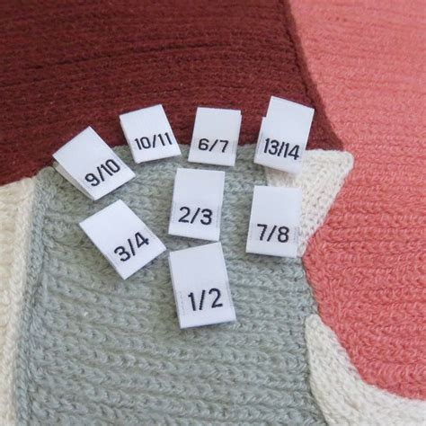 Woven Label Damask 1 Clothing Size Labels White Woven Damask Size Labels 1 2