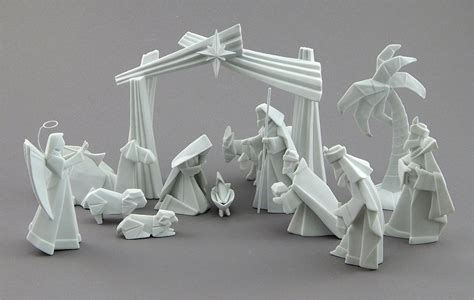 Origami Nativity Set - nativity sets