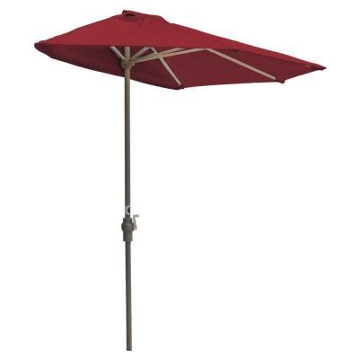 hton bay 9 ft aluminum solar patio umbrella in