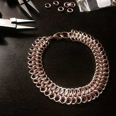 how to make chainmail jewelry how to make a chain mail bracelet 14 steps with pictures
