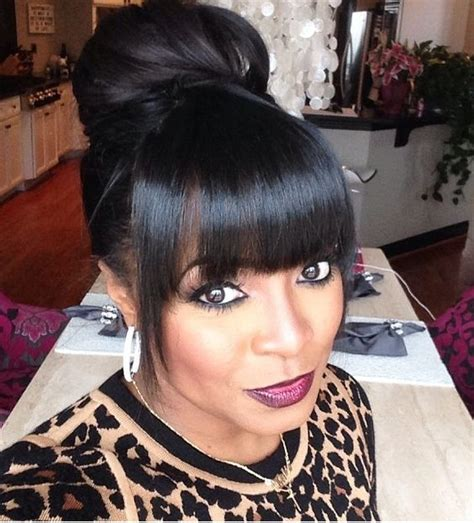 black people updo with bangs pinterest the world s catalog of ideas