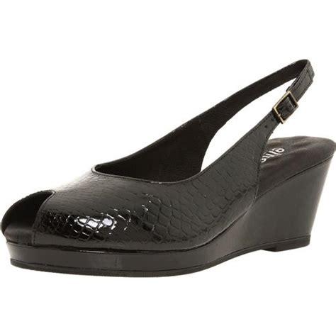 walking cradles 4542 womens black wedges sandals 8
