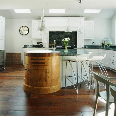 kitchen island idea mixed materials