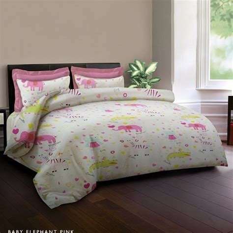 Sprei King Rabbit Murah jual king rabbit set sprei baby elephant pink 200x200x40cm