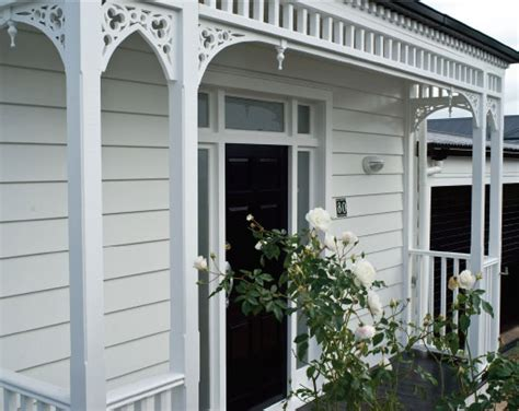 exterior house ideas on weatherboard house white trim and colour schemes