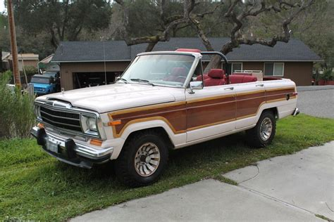 jeep convertible 1986 jeep wagoneer convertible na prodej