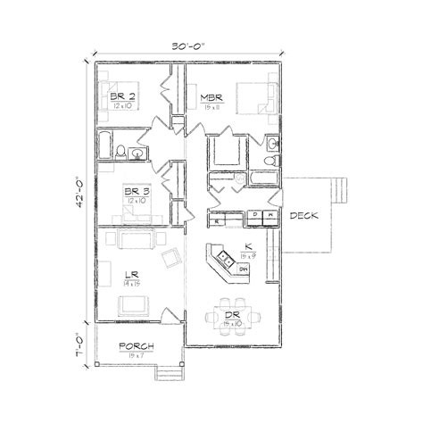 floor plan 2 bedroom bungalow sd buy garage gable roof plans
