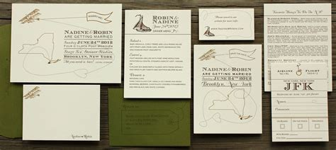 Come With Me Wedding Invites by Postscript Come Fly With Me