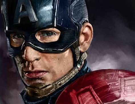 captain america wallpaper portrait digital painting captain america civil war by