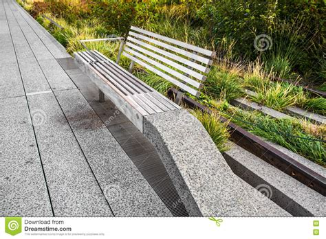 highline benches high line park bench stock photo image 73456153