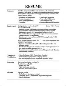 Resume writing sales professionals