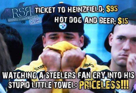 Ravens Steelers Memes - steelers fan crying towel jpg 640 215 438 whodey bengals