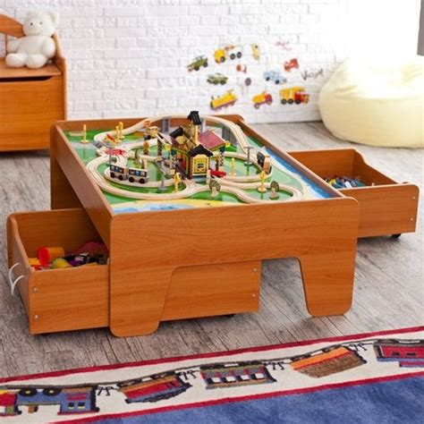 Kidkraft Metropolis Set Table With Trundle Drawer by Kidkraft Honey Table With Optional Trundle Drawers Wood Working