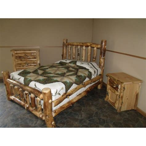 Aspen Log Bedroom Furniture Rustic Aspen Log Complete Bedroom Set