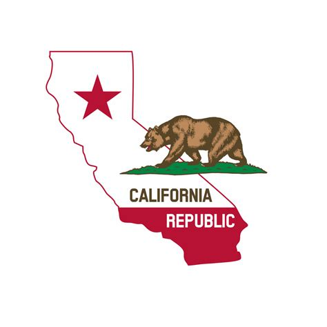 california map flag california state map with flag png clipart state of