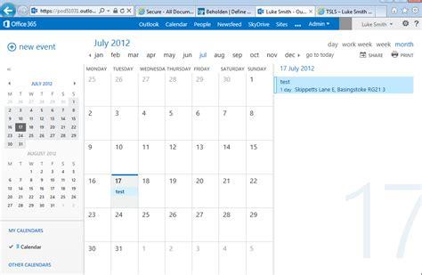 Exchange Calendar Tsls Luke Smith Owa 2013 Screenshots Exchange