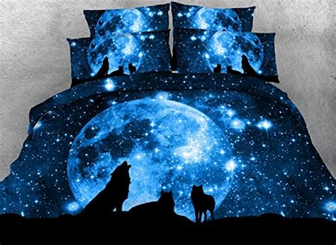 galaxy bedding full comforter sets full size luxury blue wolf and galaxy bedding 1 black bed sheet 1 quilt
