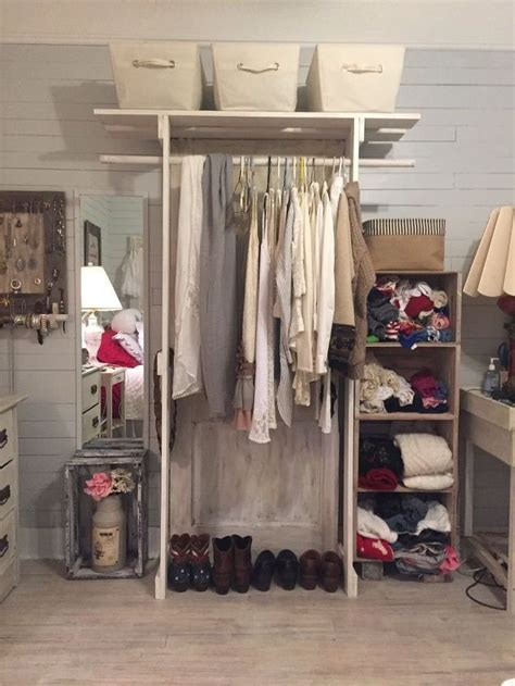 Free Standing Closet Made With An Old Door Hometalk Free Standing Clothes Closet With Doors