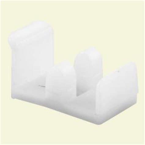 Plastic Sliding Shower Doors Prime Line Plastic Sliding Shower Jamb Mount Door Guide M 6112 The Home Depot