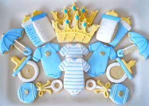 Cookie Baby Shower Decorations by Oh Sugar Events Prince Shower Cookies