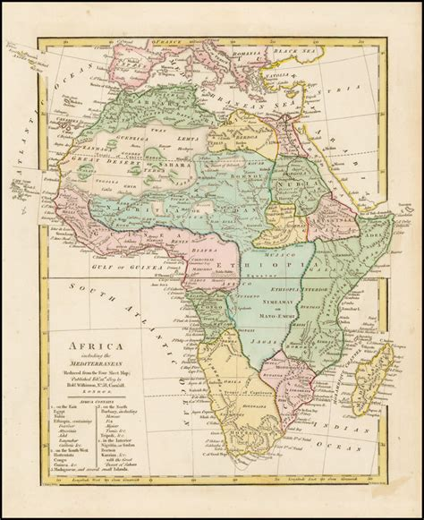 africa map 1800 africa including the mediterranean reduced from the four
