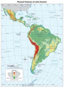 physical features map of south america physical geography of america