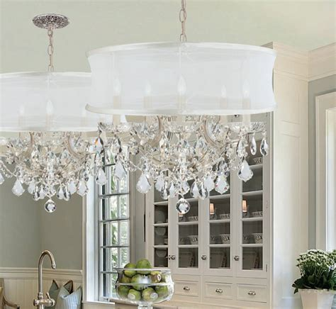 Dining Room Chandeliers With Shades Drum Shade Chandelier In Different Dining Rooms To Try Traba Homes