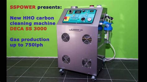hho decarbonization engine carbon cleaning machine operating  youtube
