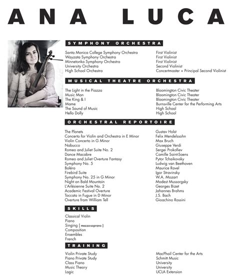 Musicians Resume Template by Musician Resume Template Resume Ideas