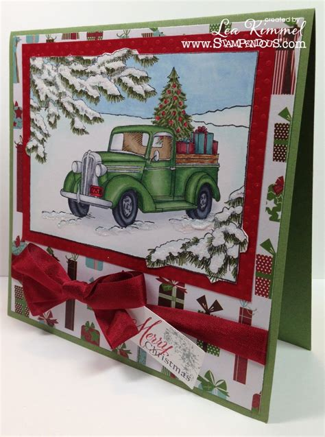 2018 christmas gifts for truckers image result for cards made with stendous truck of gifts st cards tree cards