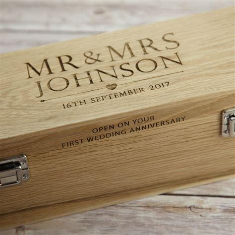 Wedding Wine Box Uk by Solid Oak Wooden Wedding Day Wine Box Prezzely