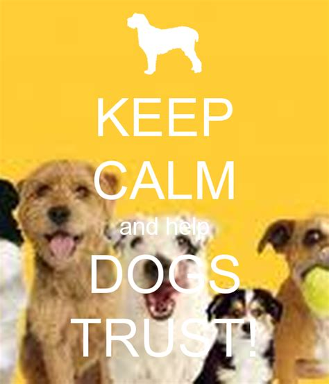 and the tr dogs keep calm and help dogs trust poster trust keep calm o matic