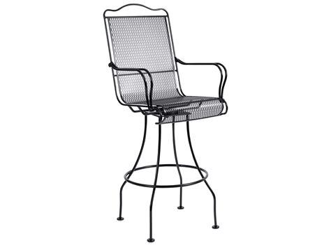 woodard tucson wrought iron swivel bar stool 1g0388