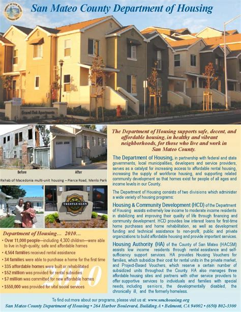 San Mateo County Section 8 by Brochures And Flyers Department Of Housing