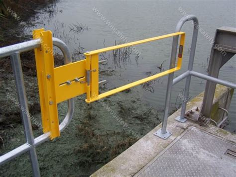 safety swing gates industrial fabenco industrial self closing safety gates